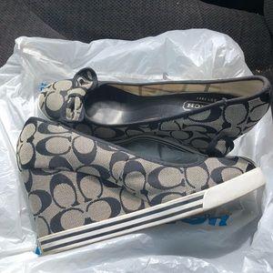Coach high heel wedge shoes